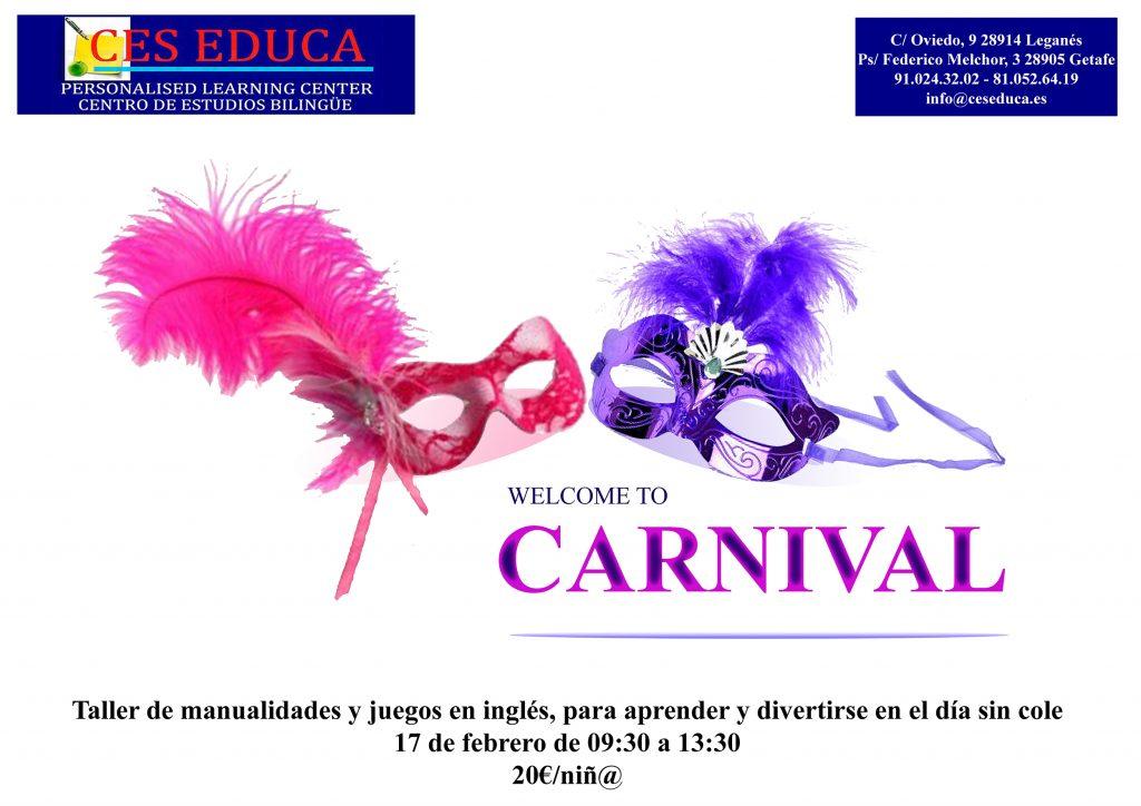 carnaval 1 1 1024x724 - Taller de manualidades de Carnaval – 17 de febrero