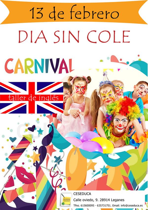 carnaval - 13 de febrero – día sin cole: Taller de inglés